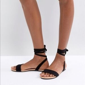 Asos Black Sandals Size 9